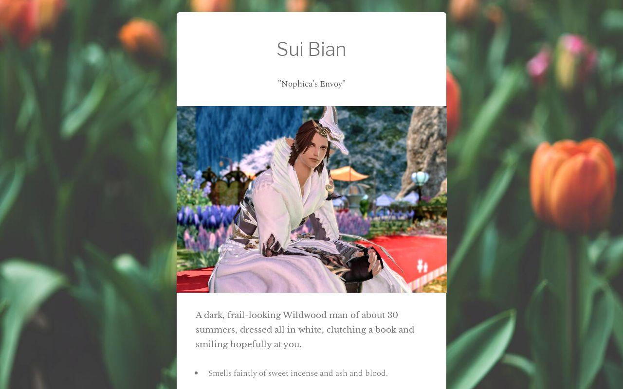RP profile - Sui Bian
